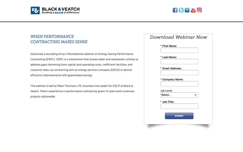 Webinar: Water - When Performance Contracting Makes Sense