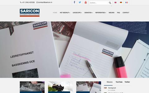 Screenshot of Home Page saricon.nl - Explosievenopsporing - captured Dec. 21, 2018