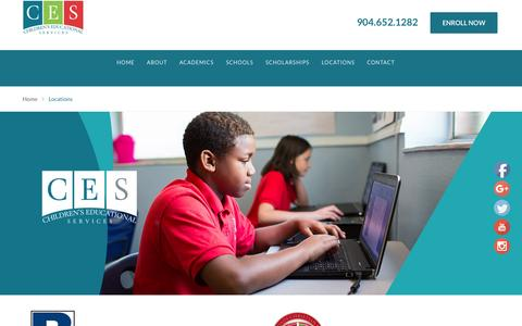 Screenshot of Locations Page ces-schools.net - Locations - CES Schools - captured Nov. 5, 2016