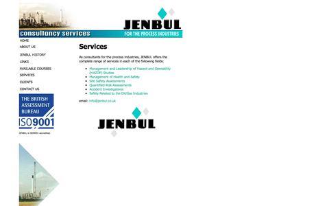 Screenshot of Services Page jenbul.co.uk - Range of Services - JENBUL - captured July 21, 2016