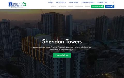 Screenshot of Home Page dmcihomes.com - DMCI Homes | Real Estate Philippines, Condo, House & Lot for Sale - captured June 3, 2017