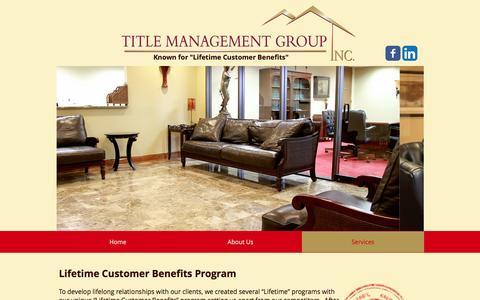 Screenshot of Services Page titlemg.com - title-management | Services - captured Dec. 3, 2016