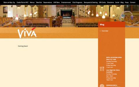 Screenshot of Blog vivagoodlife.com - Blog  |  VivaBistro&Lounge - captured Feb. 15, 2016