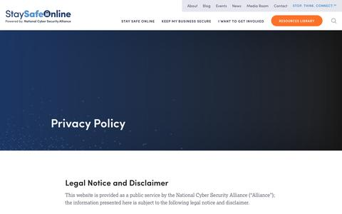 Privacy Policy - Stay Safe Online