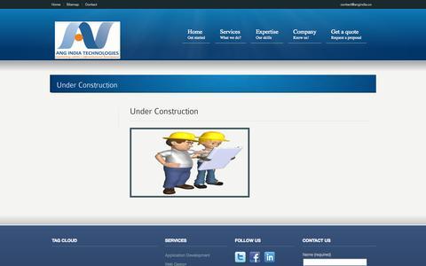 Screenshot of Blog Site Map Page angindia.co - Hindi Web Designing and Hindi Web Development - captured Oct. 23, 2014