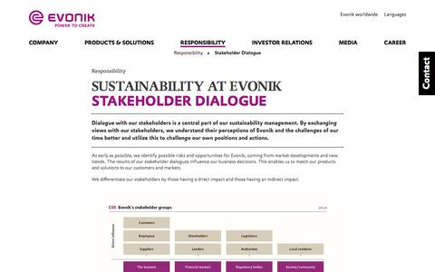 Stakeholder Dialogue - Evonik Industries AG