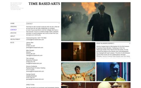 Screenshot of Contact Page time-based-arts.com - Contact | Time Based Arts - captured May 30, 2016