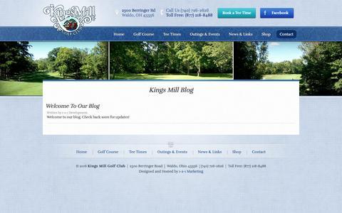 Screenshot of Blog kingsmillgolf.com - Kings Mill Blog | Kings Mill Golf Club - captured June 18, 2016