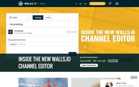 Screenshot of Blog walls.io - Your Hashtags Unleashed |Walls.io Blog - captured July 14, 2016
