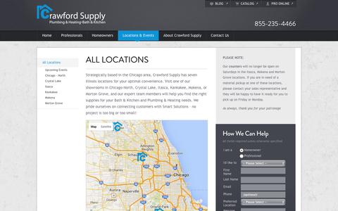 Screenshot of Locations Page crawfordsupply.com - Illinois Locations – Chicago Area | Crawford Supply - captured July 17, 2016