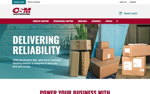 Screenshot of Home Page osmworldwide.com - Business Shipping Solutions   OSM Worldwide - captured Nov. 13, 2018
