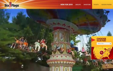 Screenshot of Home Page sixflags.com - Six Flags | Official Home Page - captured July 11, 2019