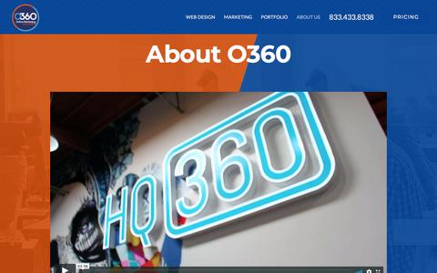 Screenshot of About Page o360.com - About Optimized360 LLC a 5-Star Company - captured July 14, 2019