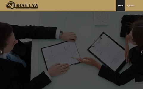 Screenshot of Home Page shahlaw.ca - Welcome to Shah Law Office - captured Nov. 17, 2016