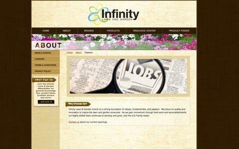 Screenshot of Jobs Page infinitylawnandgarden.com - Careers - Infinity Lawn & Garden - captured Oct. 6, 2014