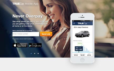 Screenshot of truecar.com - TrueCar - captured March 19, 2016