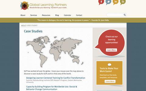Screenshot of Case Studies Page globallearningpartners.com - Case Studies  Global Learning Partners - captured Nov. 10, 2018