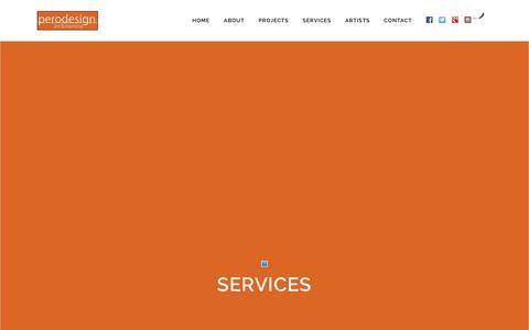 Screenshot of Services Page chrisperodesign.com - perodesign Custom Framing & Art Sourcing Services - captured Dec. 16, 2018