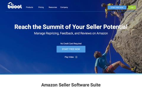 Screenshot of Home Page bqool.com - BQool - Amazon Seller Software Suite - captured Oct. 2, 2015