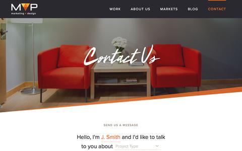 Screenshot of Contact Page mvpdesign.com - Contact | MVP Marketing + Design - captured Oct. 4, 2017