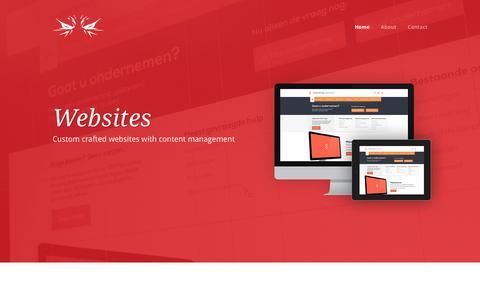 Screenshot of Home Page tenzyn.com - Tenzyn - captured Oct. 7, 2014