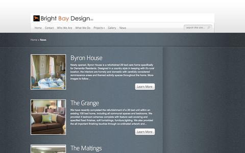 Screenshot of Press Page brightbaydesign.co.uk - News   Bright Bay Design - captured Sept. 30, 2014