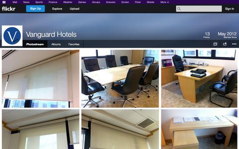 Screenshot of Flickr Page flickr.com - Flickr: Vanguard Hotels' Photostream - captured Oct. 27, 2014