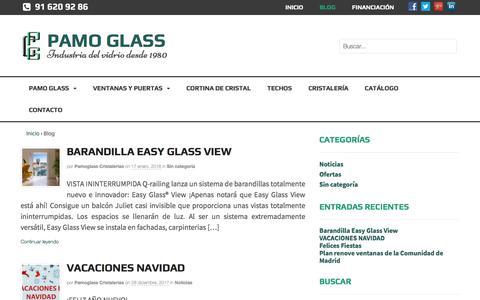 Screenshot of Blog pamoglass-cristalerias.com - Blog | Pamo Glass Cristalerias - captured April 22, 2018