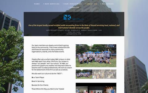 Screenshot of Team Page nkcpa.com - Our People — N&K CPAs Inc. - captured Feb. 21, 2016