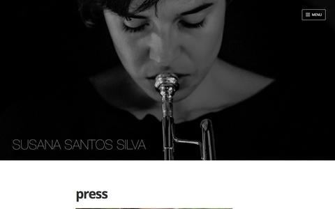 Screenshot of Press Page susanasantossilva.com - press - captured Jan. 7, 2017