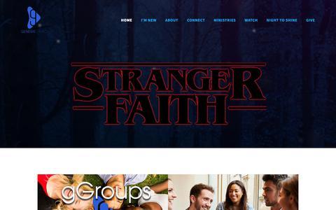 Screenshot of Home Page genesischurch.tv - GenesisChurch - captured Sept. 27, 2018