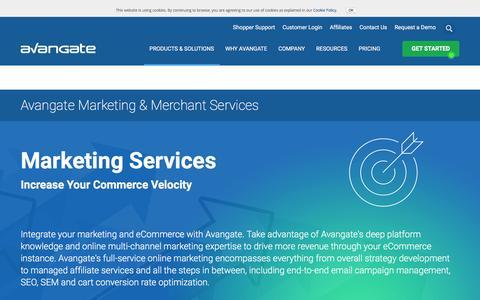 Screenshot of Services Page avangate.com - Avangate Marketing & Merchant eCommerce Services - captured Sept. 30, 2016