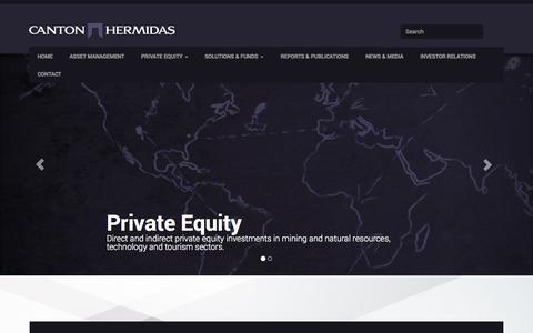 Screenshot of Home Page cantonhermidas.com - MENA & Iran Investment House - Canton Hermidas - captured Sept. 30, 2014