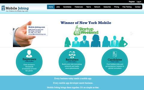 Screenshot of Home Page mobilejobing.com - mobilejobing.com - captured Oct. 1, 2014