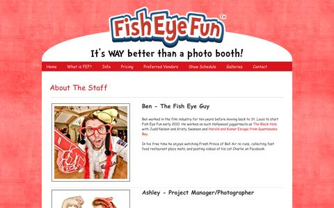 Screenshot of About Page fisheyefun.com - About The Staff » Fish Eye Fun – A St. Louis Photo Booth Service - captured Aug. 4, 2016
