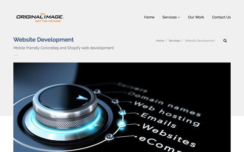 Screenshot of Services Page originalimage.com - Responsive Website Development for Concrete5 and Shopify Auckland New Zealand - captured Jan. 3, 2017