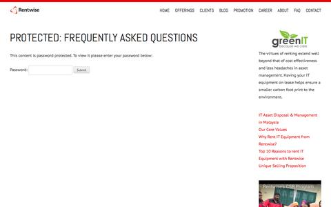 Screenshot of FAQ Page rentwise.com - Frequently Asked Questions - Rentwise - captured Dec. 19, 2016