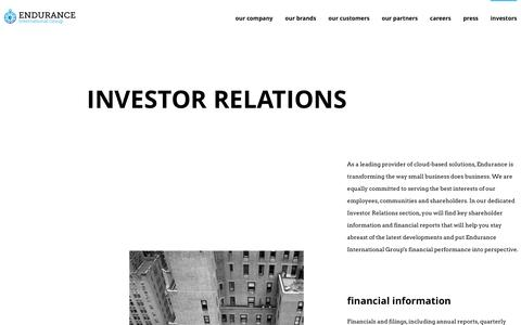 Investor Relations - Endurance International Group
