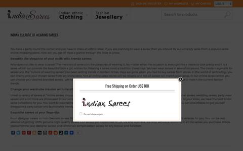Screenshot of Blog indiansarres.com - Blog of Indian Sarees | Online Shopping Blog | Saree Online Indiansarres - captured June 26, 2017