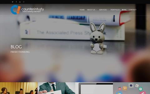 Screenshot of Blog counterintuity.com - Internet Marketing Firm Blog | Counterintuity | Burbank, CA - captured March 4, 2016