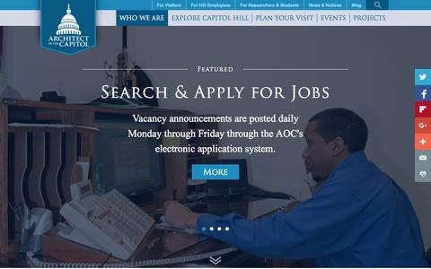 Screenshot of Jobs Page aoc.gov - Careers   Architect of the Capitol   United States Capitol - captured Nov. 13, 2015