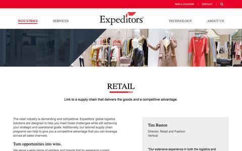 Industries | Retail | Expeditors International of Washington, Inc.