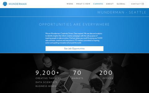 Screenshot of Jobs Page wunderman.com - Careers & Employment | Wunderman - captured Feb. 1, 2018
