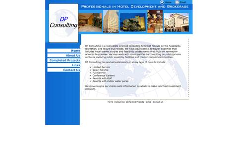 Screenshot of Home Page dpconsultingusa.com - DP Consulting, Hotel Management and Consulting, Hospitality Services - captured Sept. 30, 2014