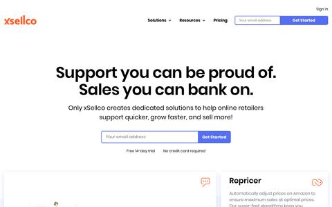 Screenshot of Home Page xsellco.com - eCommerce Helpdesk, Amazon Repricer, Feedback Software | xSellco - captured July 20, 2019