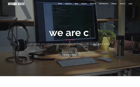 Screenshot of Home Page minionmade.com - Minion Made - captured June 18, 2015
