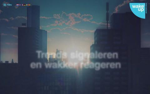Screenshot of Home Page wake.nl - Home - Wake Up - captured Aug. 13, 2015