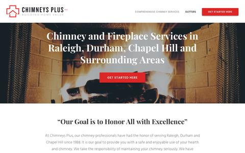 Screenshot of Press Page chimneysplusgutters.com - Quality Chimney & Fireplace Services in Raleigh, Durham and Chapel Hill - captured Sept. 27, 2018