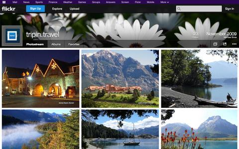 Screenshot of Flickr Page flickr.com - Flickr: tripin.travel's Photostream - captured Oct. 25, 2014