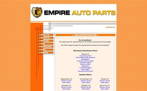 Screenshot of Jobs Page empireauto.biz - EMPIRE AUTO PARTS, INC. - captured Oct. 2, 2014